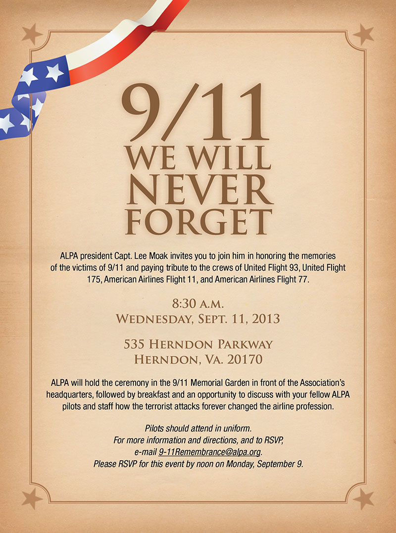 9  11 remembrance ceremony invitation  2013